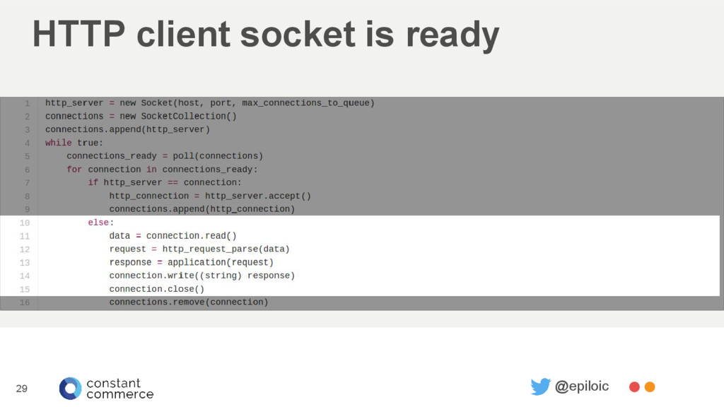 HTTP client socket is ready 29 @epiloic