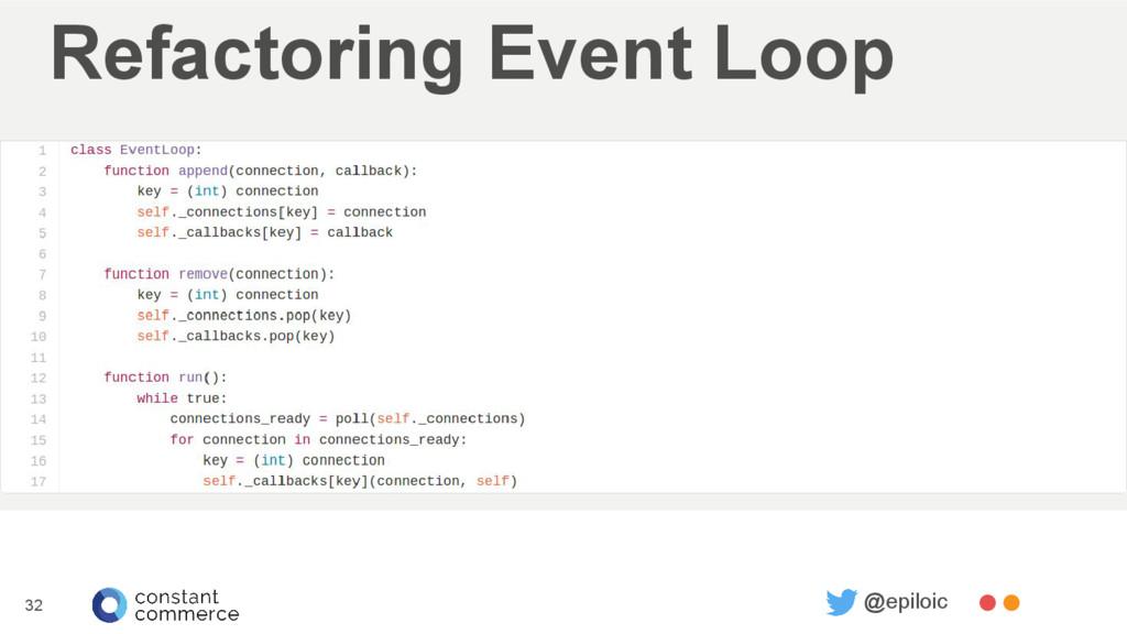 Refactoring Event Loop 32 @epiloic