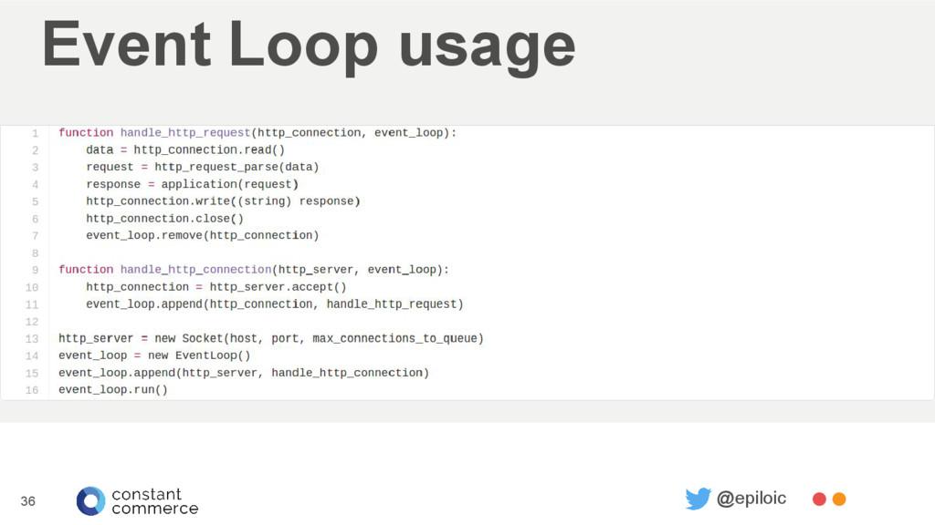 Event Loop usage 36 @epiloic