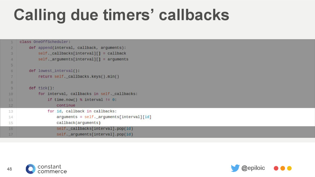 Calling due timers' callbacks 48 @epiloic