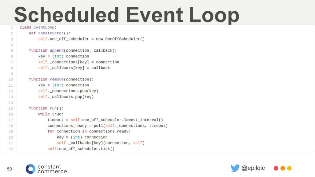 Scheduled Event Loop 50 @epiloic