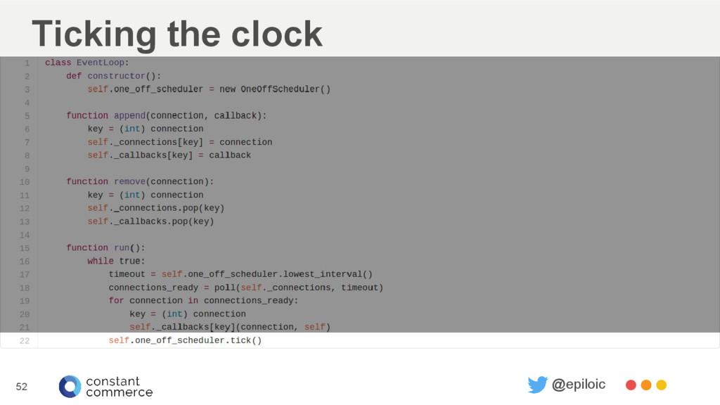 Ticking the clock 52 @epiloic