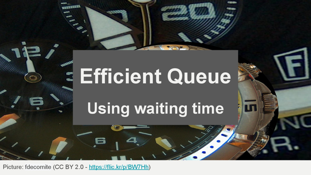 Efficient Queue Using waiting time Picture: fde...