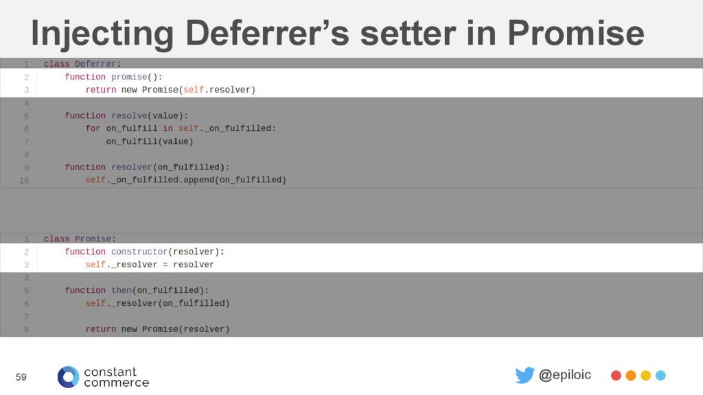 Injecting Deferrer's setter in Promise 59 @epil...