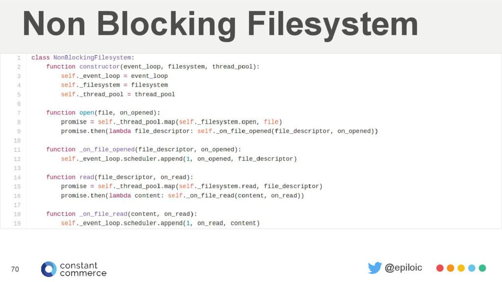 Non Blocking Filesystem 70 @epiloic