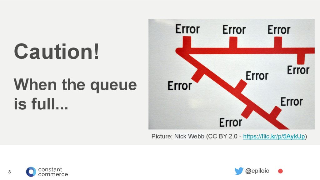 8 @epiloic Caution! When the queue is full... P...