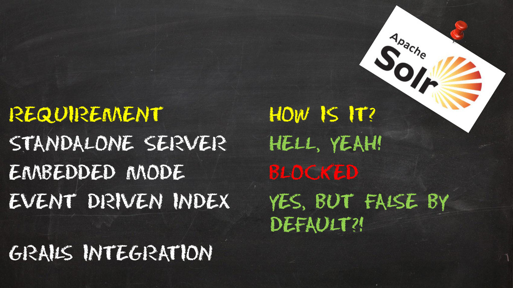 Requirement How is it? Standalone server Hell, ...