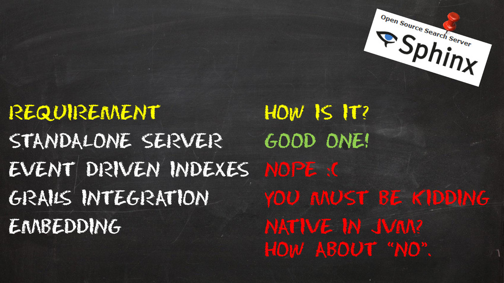 Requirement How is it? Standalone server Good o...