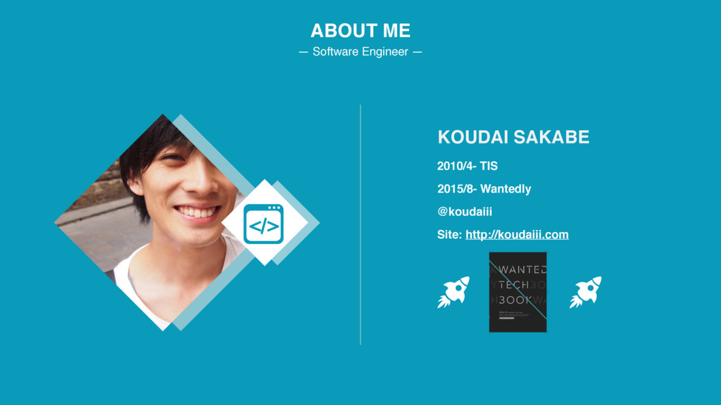 ABOUT ME — Software Engineer — 2010/4- TIS KOUD...
