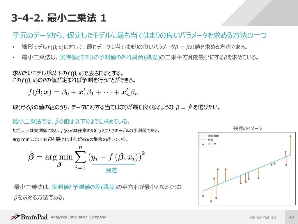 Analytics Innovation Company ©BrainPad Inc. 40 ...