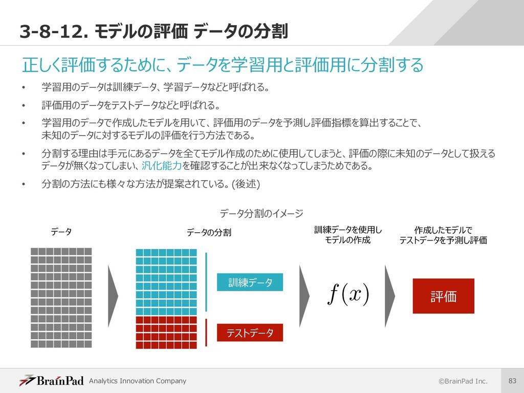 Analytics Innovation Company ©BrainPad Inc. 83 ...