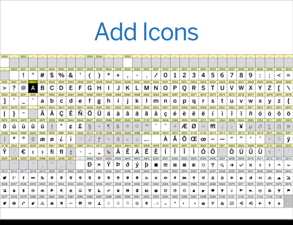 Add Icons Friday, 31 May 13