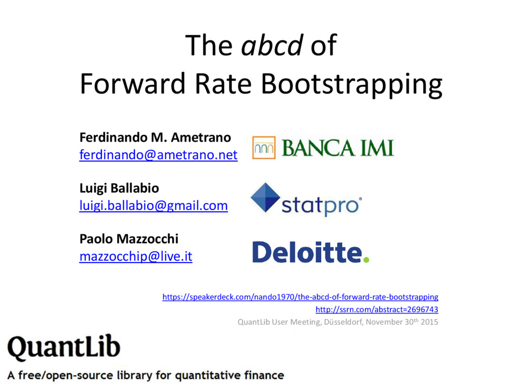 The abcd of Forward Rate Bootstrapping Ferdinan...