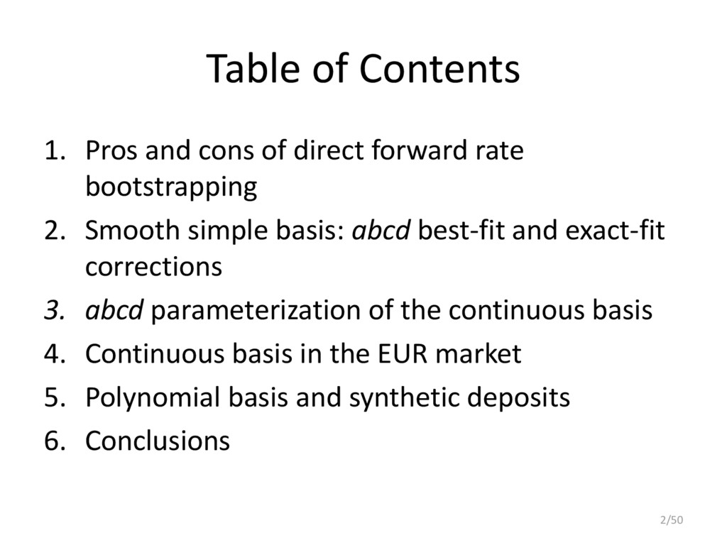 Table of Contents 1. Pros and cons of direct fo...