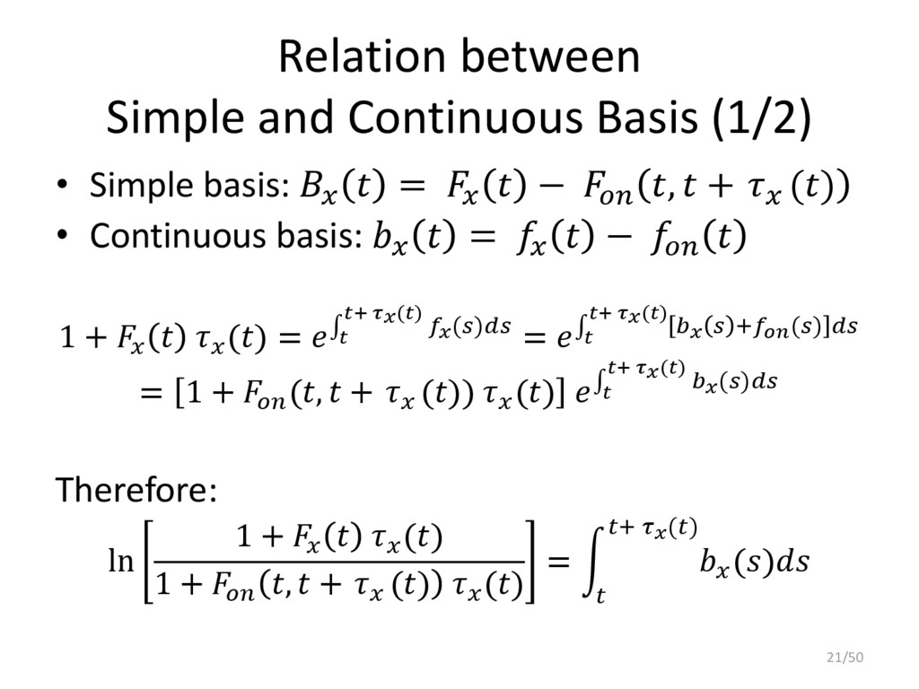 Relation between Simple and Continuous Basis (1...