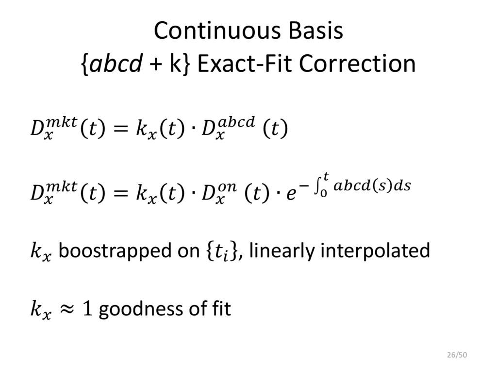 Continuous Basis {abcd + k} Exact-Fit Correctio...