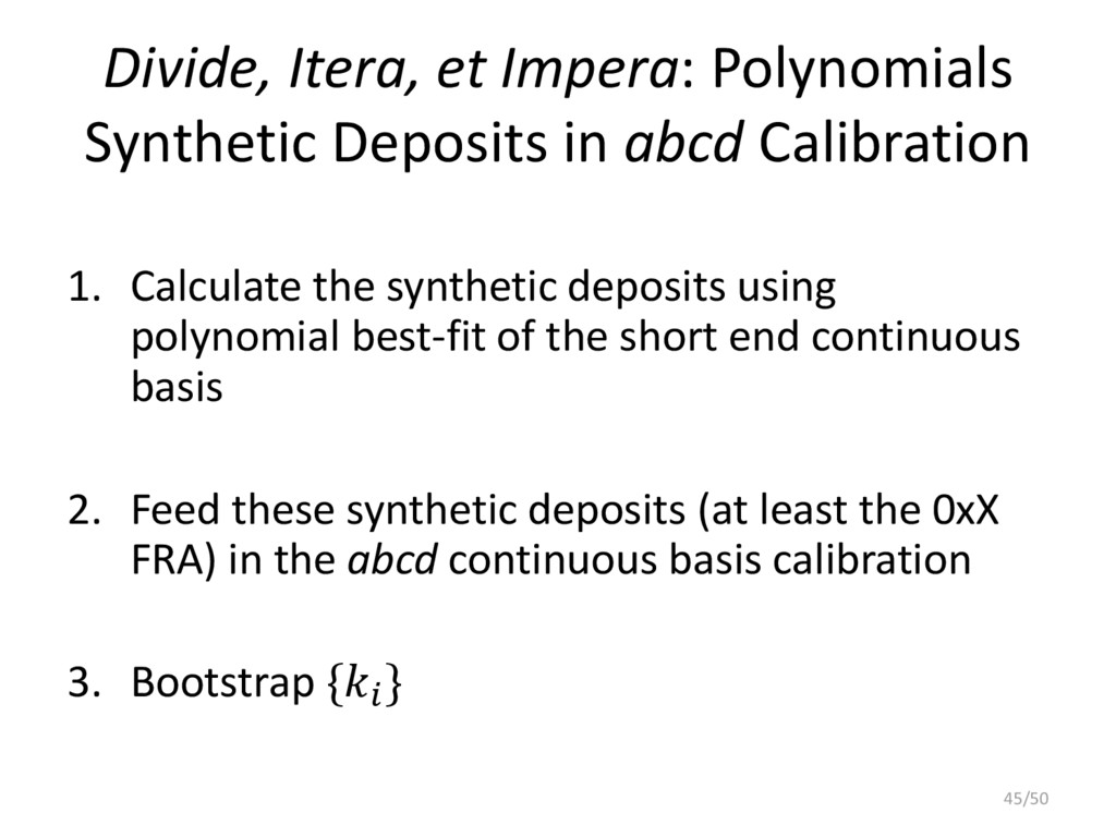 Divide, Itera, et Impera: Polynomials Synthetic...