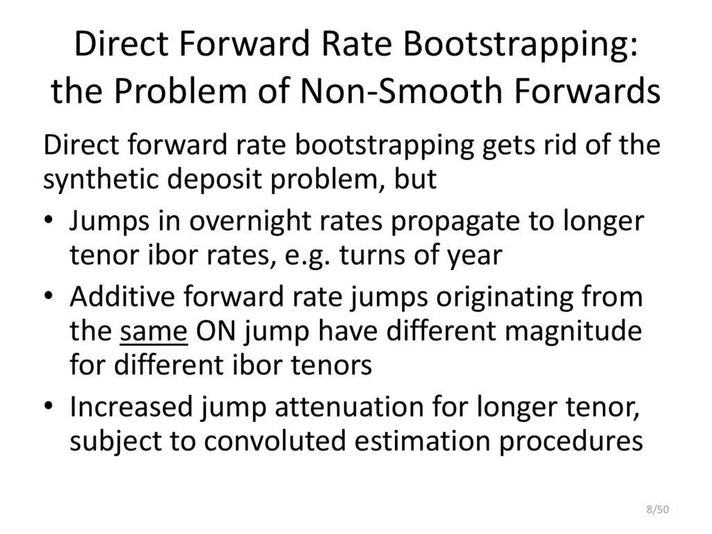 Direct Forward Rate Bootstrapping: the Problem ...