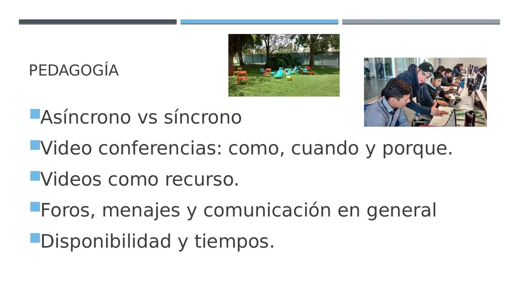 PEDAGOGÍA Asíncrono vs síncrono Video confere...