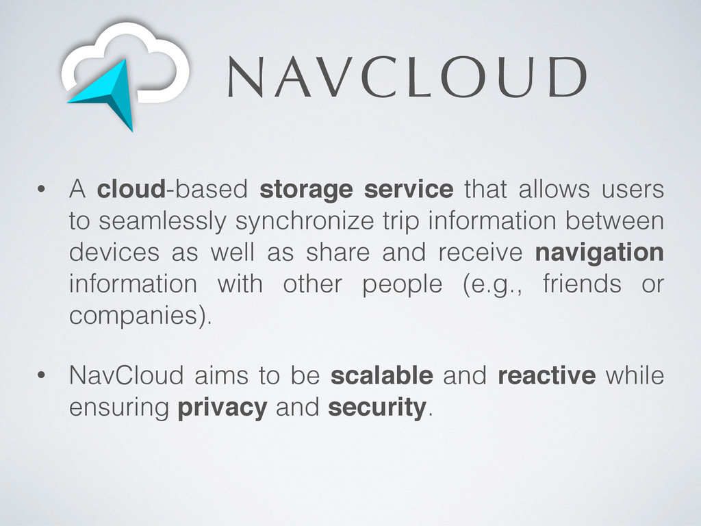 NAVCLOUD • A cloud-based storage service that a...