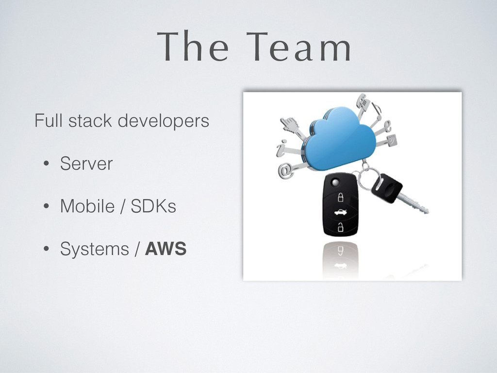 The Team Full stack developers • Server • Mobil...