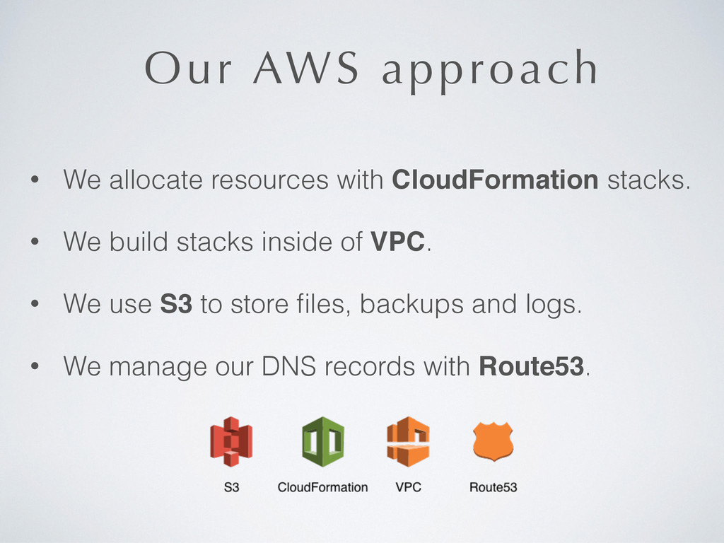 Our AWS approach • We allocate resources with C...