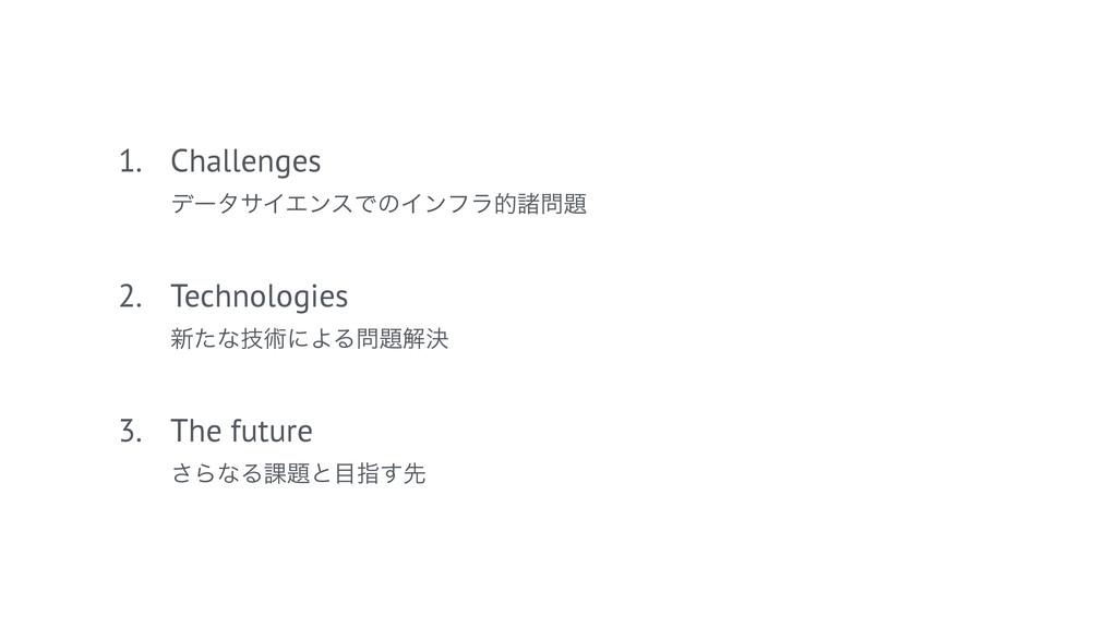 1. Challenges σʔλαΠΤϯεͰͷΠϯϑϥతॾ 2. Technologi...