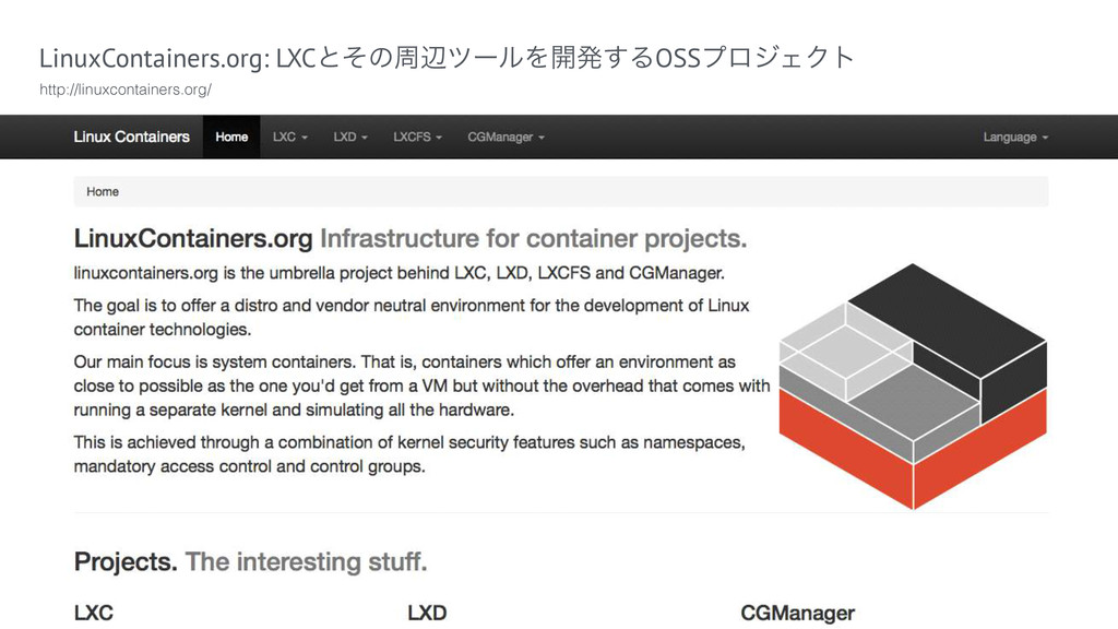 LinuxContainers.org: LXCͱͦͷपลπʔϧΛ։ൃ͢ΔOSSϓϩδΣΫτ ...