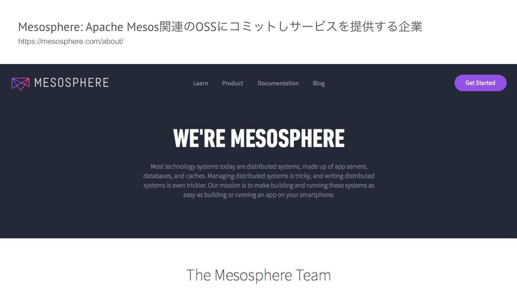 Mesosphere: Apache Mesosؔ࿈ͷOSSʹίϛοτ͠αʔϏεΛఏڙ͢Δاۀ...