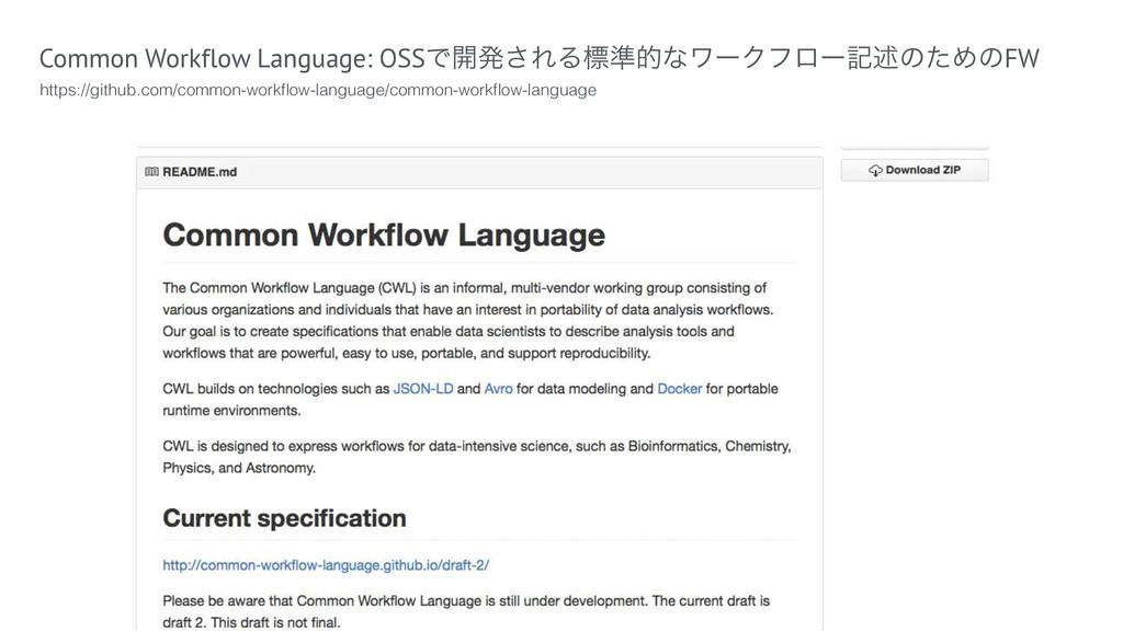 Common Workflow Language: OSSͰ։ൃ͞ΕΔඪ४తͳϫʔΫϑϩʔهड़...