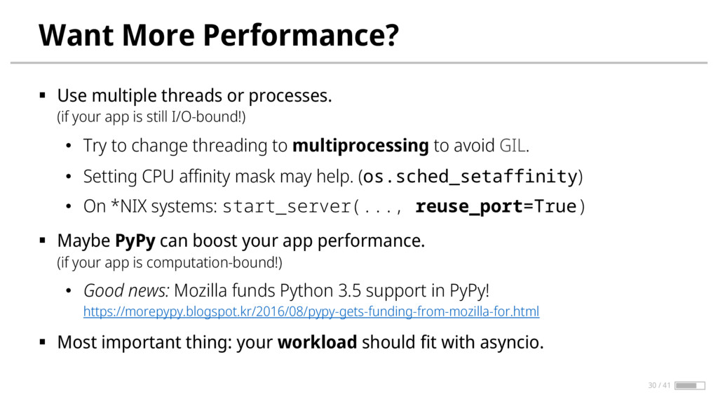 Want More Performance? § Use multiple threads o...