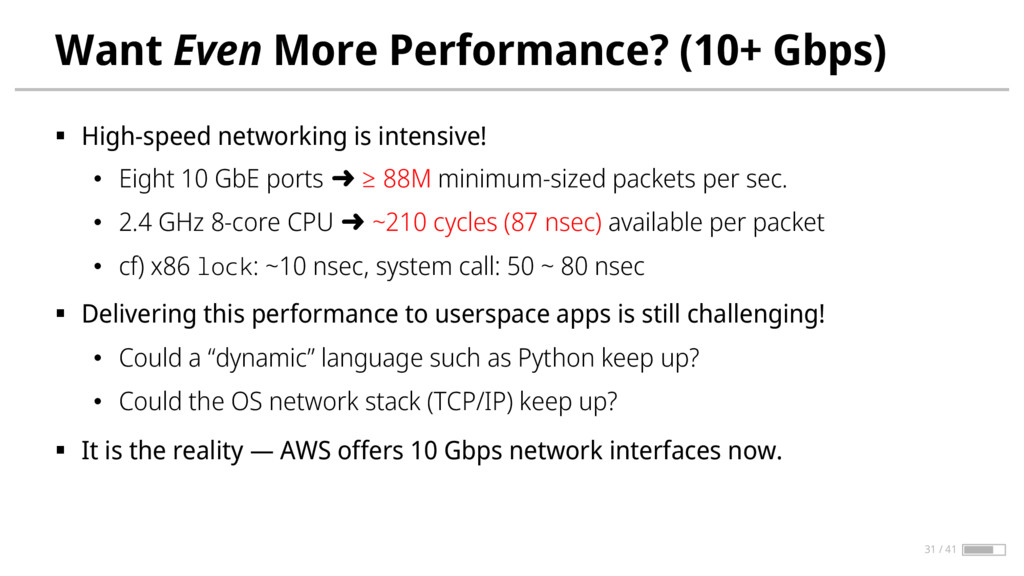 Want Even More Performance? (10+ Gbps) § High-s...