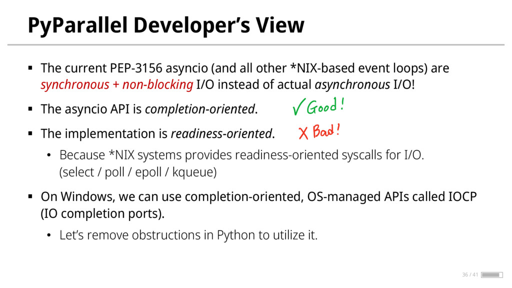 PyParallel Developer's View § The current PEP-3...