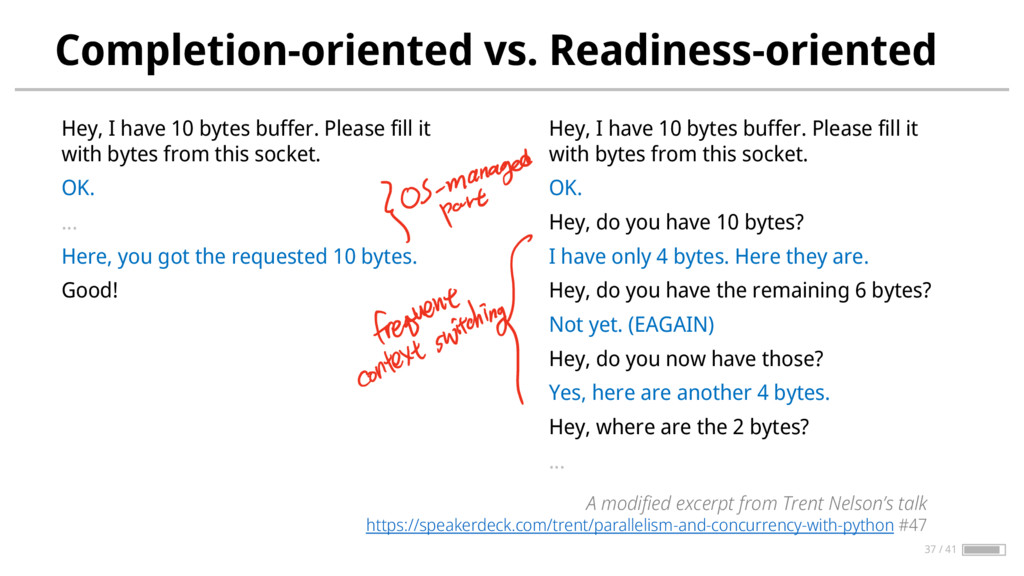 Completion-oriented vs. Readiness-oriented Hey,...