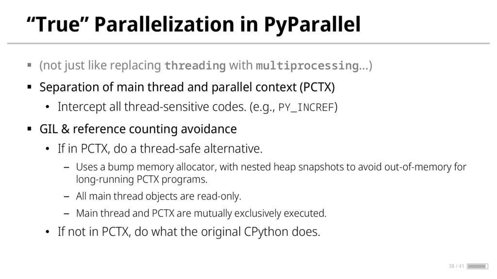 """""""True"""" Parallelization in PyParallel § (not jus..."""