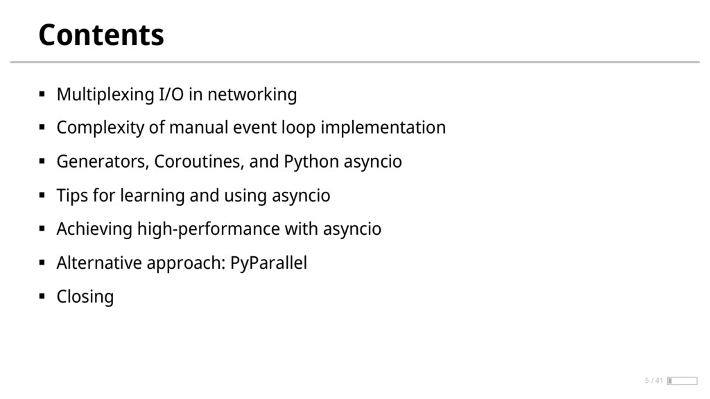 Contents § Multiplexing I/O in networking § Com...