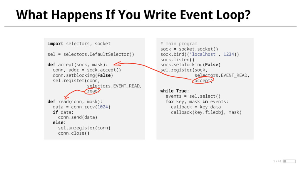 What Happens If You Write Event Loop? import se...