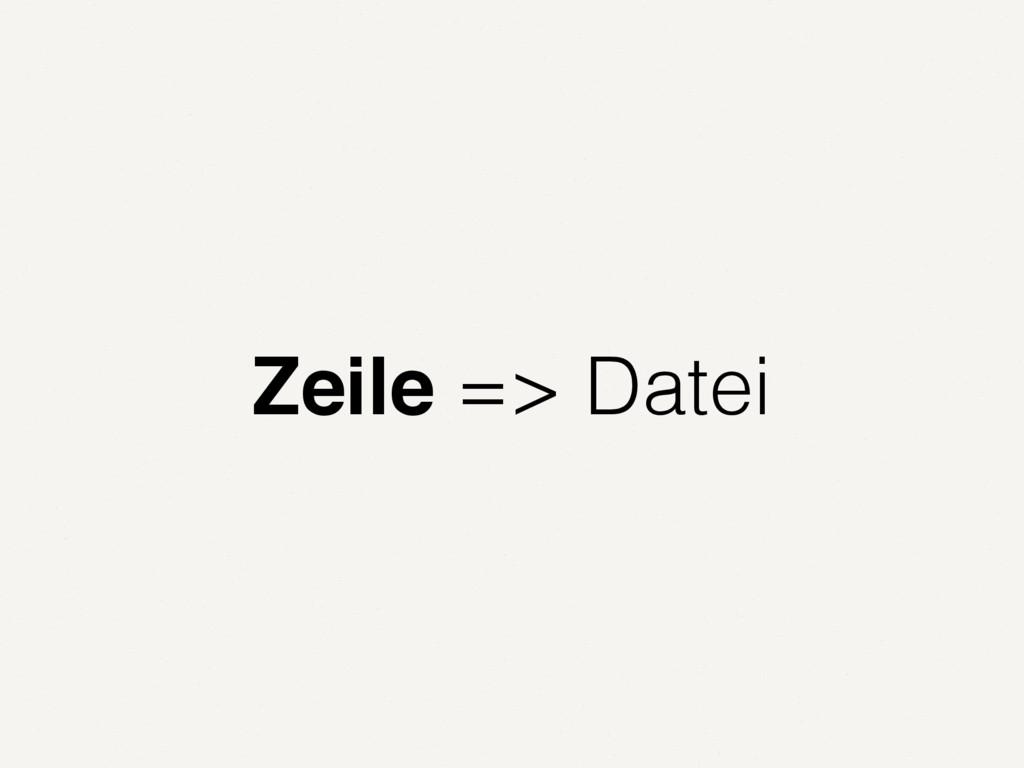 Zeile => Datei