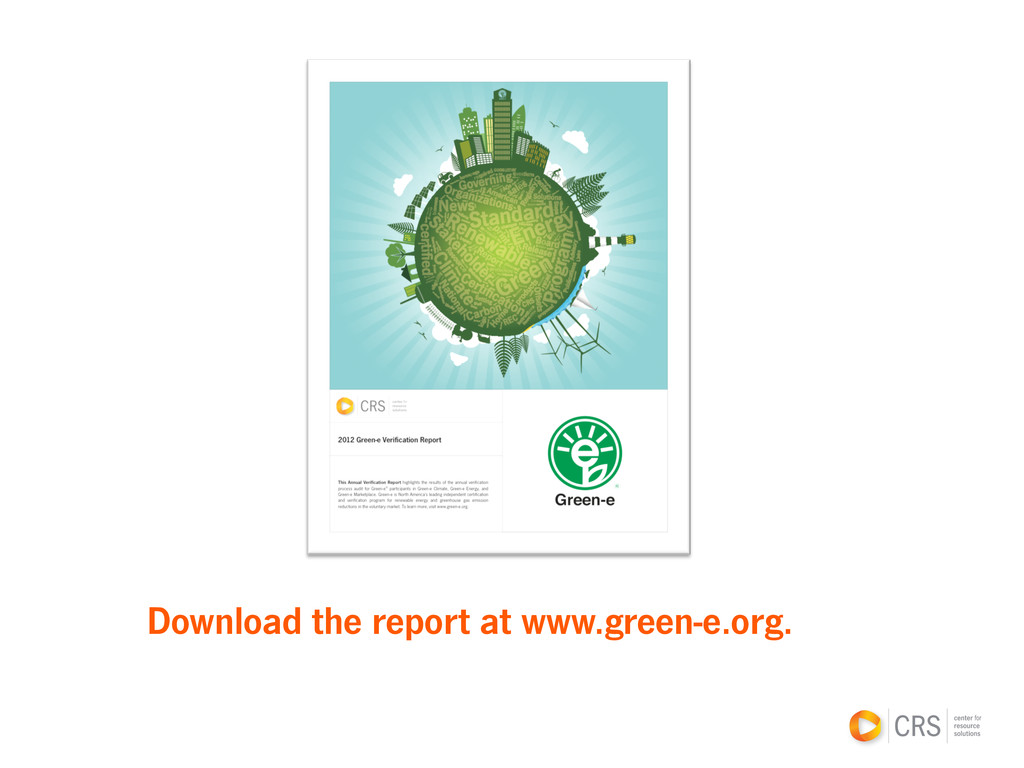 Download the report at www.green-e.org.