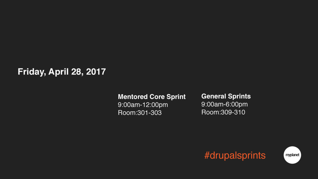 #drupalsprints Friday, April 28, 2017 Mentored ...