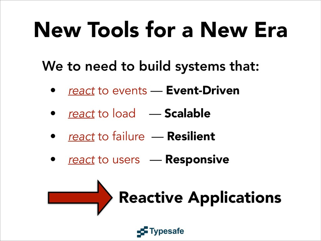 Reactive Applications We to need to build syste...