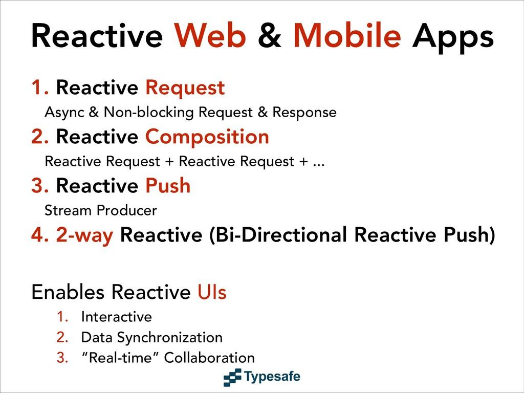Reactive Web & Mobile Apps 1. Reactive Request ...