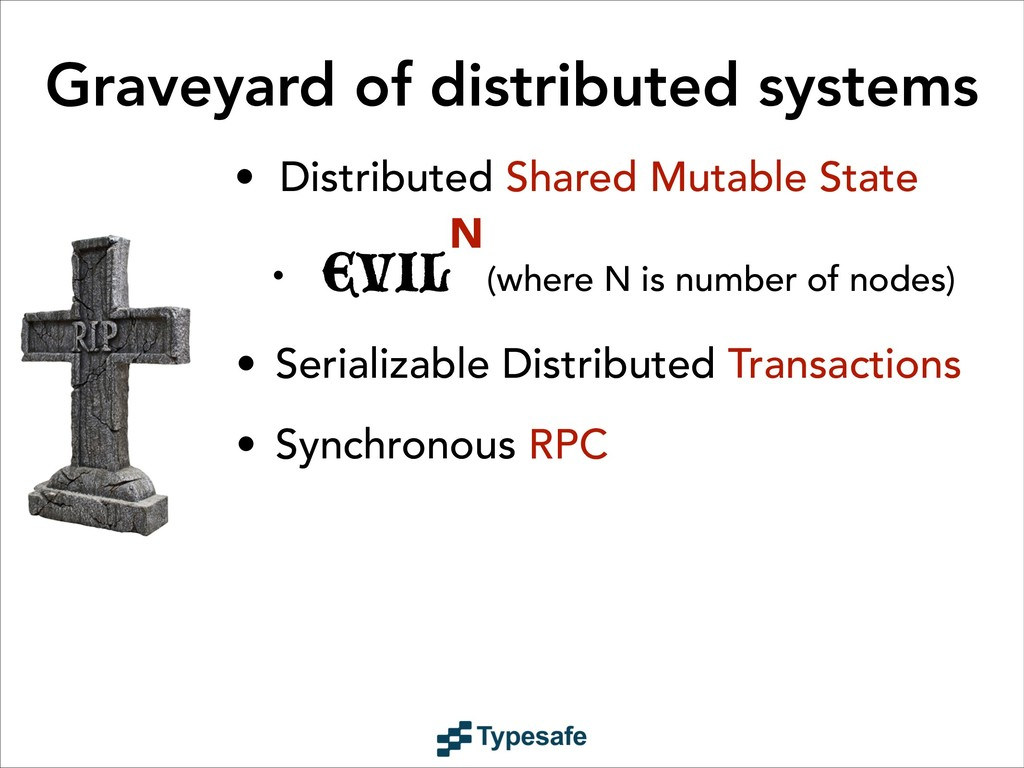 Graveyard of distributed systems • Distributed ...