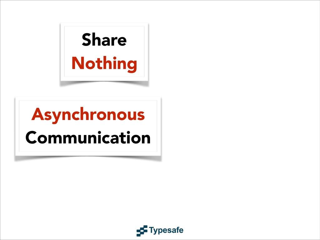Asynchronous Communication Share Nothing