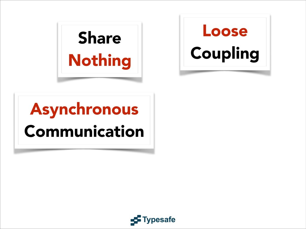 Asynchronous Communication Share Nothing Loose ...