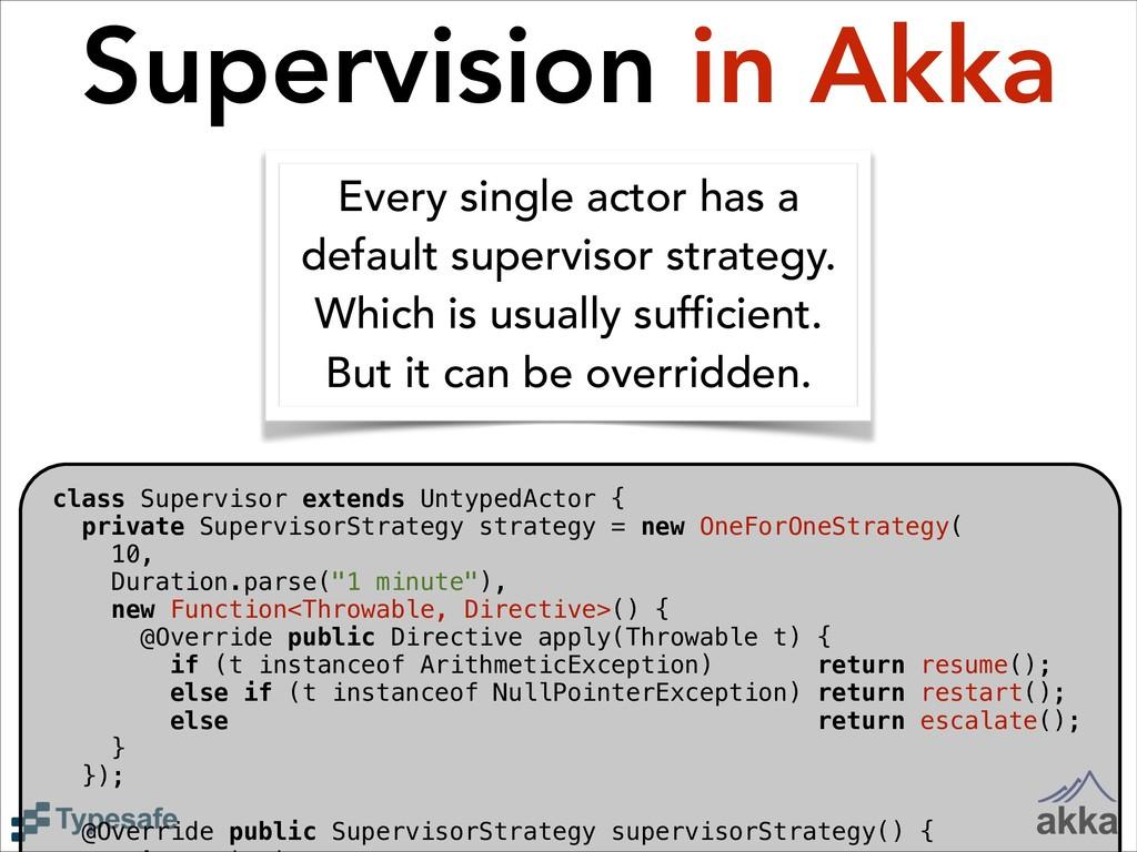 class Supervisor extends UntypedActor { private...