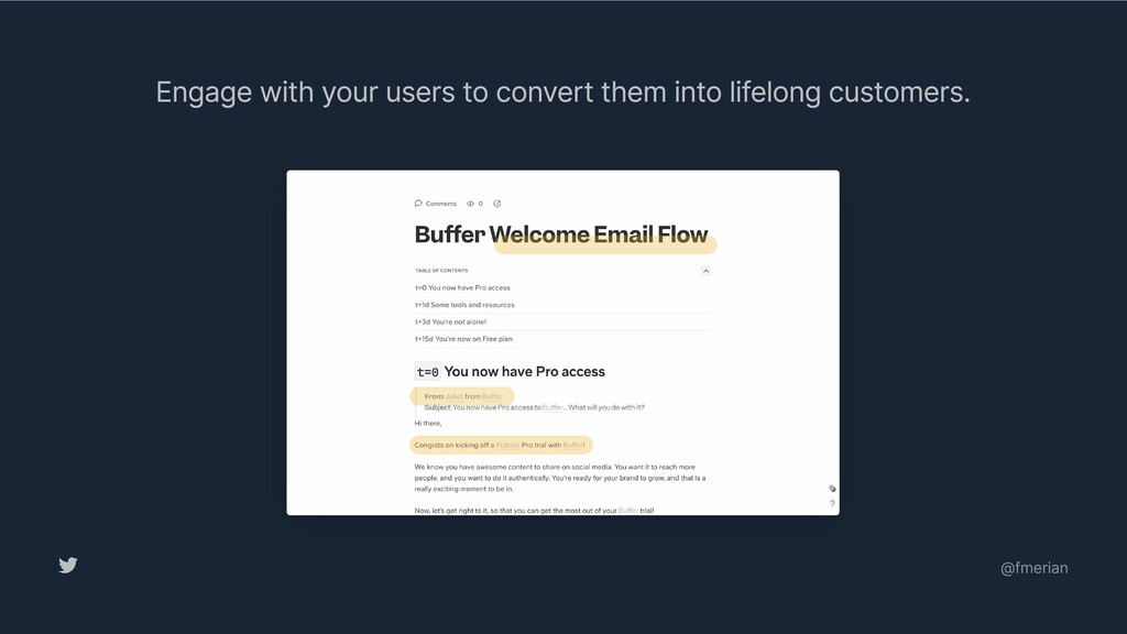 Engage with your users to convert them into lif...