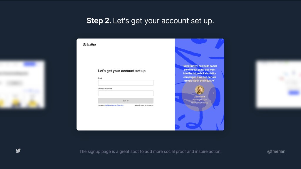 Step 2. Let's get your account set up. The sign...