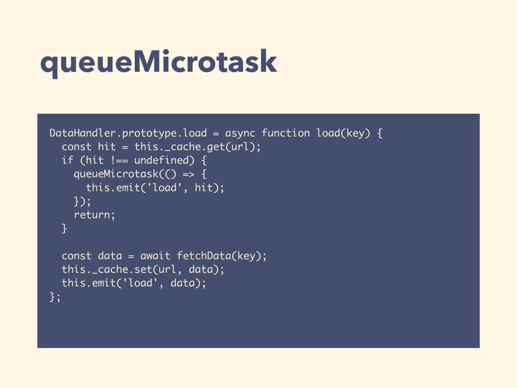 queueMicrotask DataHandler.prototype.load = asy...