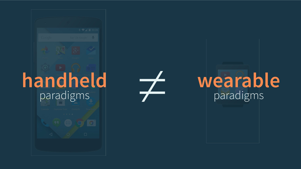 wearable paradigms handheld paradigms ≠